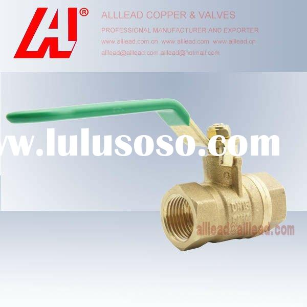 Hot Forged CW617n Brass Water Pipe Lines Ball Valve