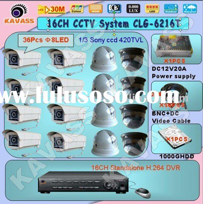 Hot sales 16ch h264 DVR &Camera security system