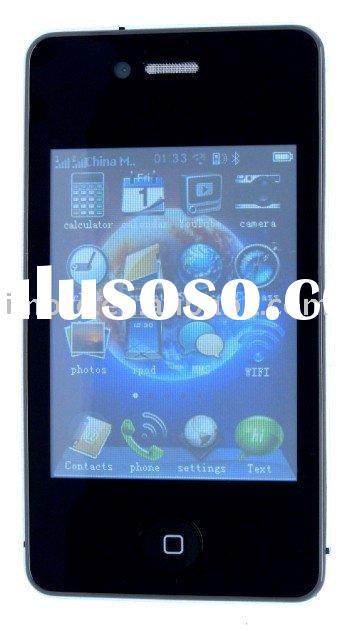 "I68 4G 3.2"" Wifi Quadband bar dual sim mobile phone Unlocked Mobile Phone"