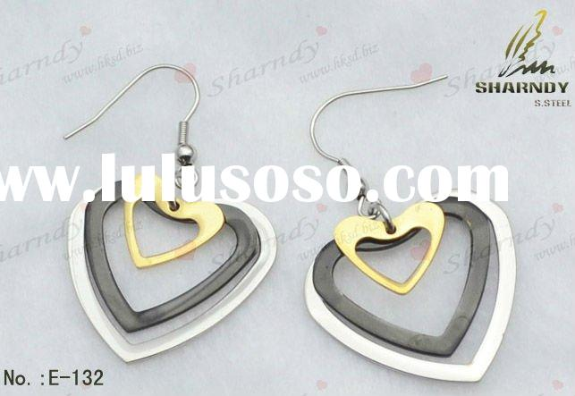 IPG heart-shaped Stainless steel earrings for sale