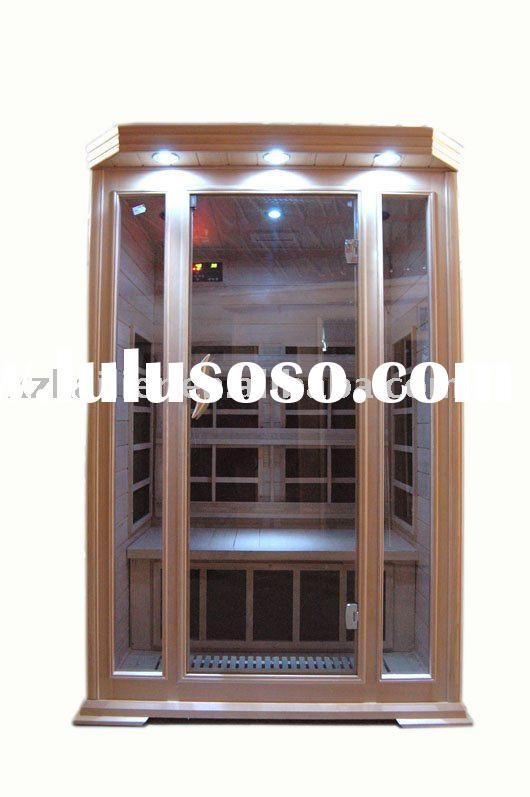 Infrared Sauna with Carbon Fiber Heater,Tempered Glass Window,CE&RoHS Certificated