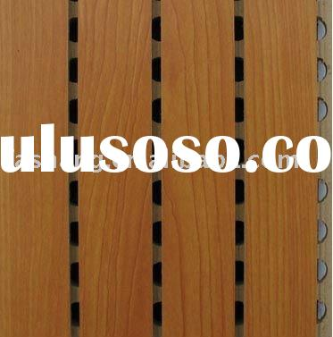 Interior wall decoration material! Wooden MDF acoustic wall panel!