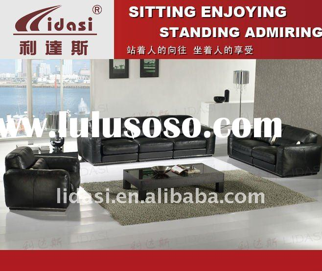Italy Top Grain Leather+PVC S/Leather Design Leather sofa set C-076