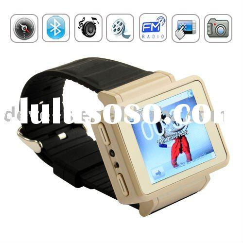 K1 1.8 inch touch screen compass watch mobile phone Quad band,1GB&mono Bluetooth headset