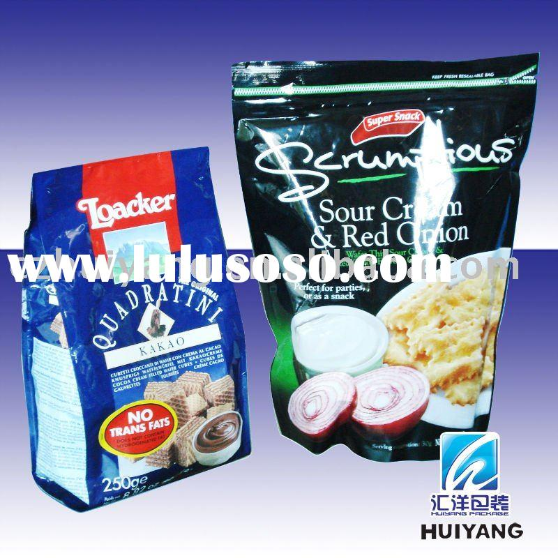 Laminated stand up cookies packaging bag with zipper