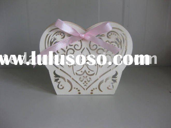 Laser cutting paper wedding decoration sweet box