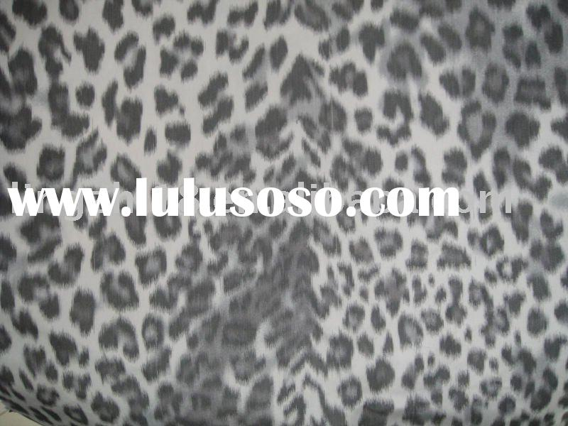 Leopard Polyester print Memory Fabric Warp Printing Yarn Dyed Fabric leopard print Fabric