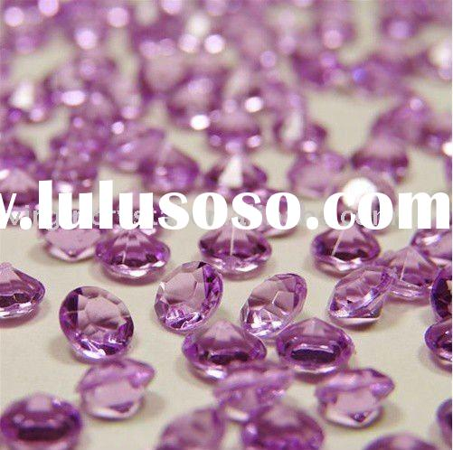 Light Purple Acrylic Diamond Confetti Table Scatters Party