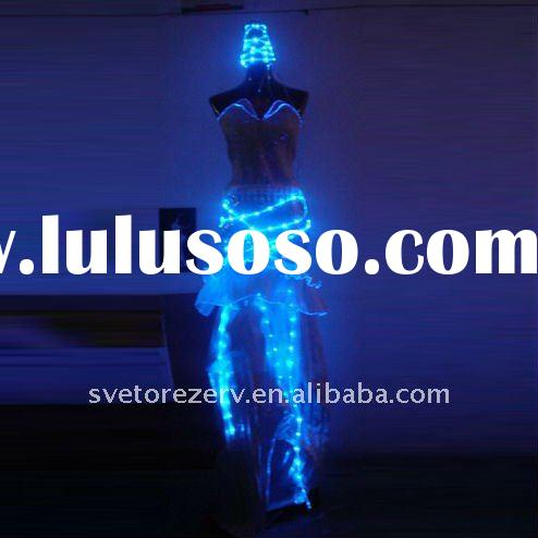 Luminous costumes,lighting dress with hat,Halloween costumes