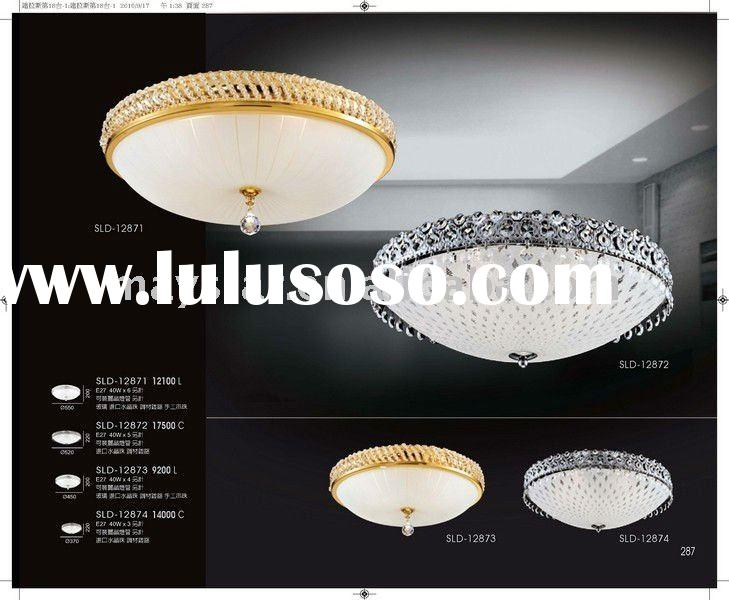 Luxurious glass bedroom decoration crystal ceiling lamp lighting