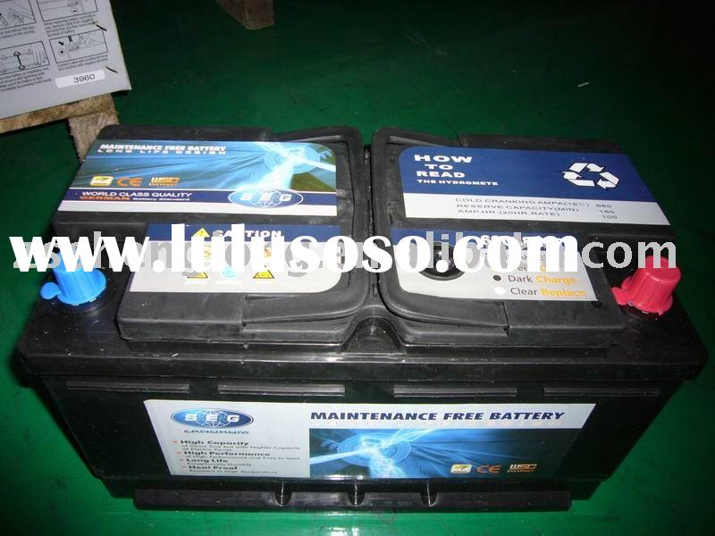 Maintenance Free Car Battery 60038/DIN100/12V/100AH