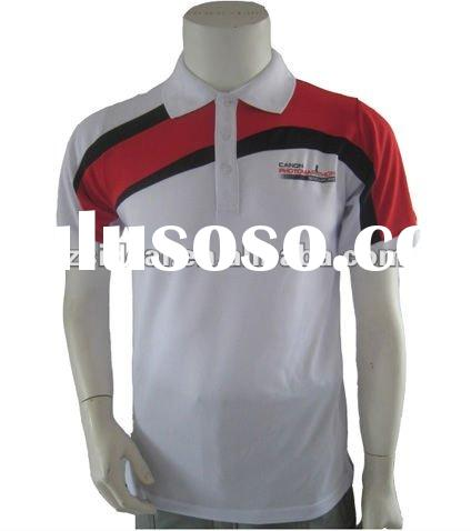 Men's fashion polyester cool dry short sleeve custome sublimation polo shirt