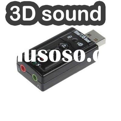 Mini 3D USB 2.0 External Sound Card 7.1 Channel Audio Adapter