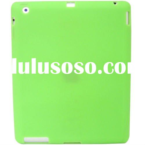 NEW GREEN SOFT SILICONE RUBBER CASE FULL BACK COVER FOR APPLE IPAD 2 PROTECTOR