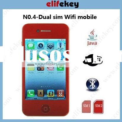 NO.4 Dual sim WIFI mobile unlocked wifi gsm cell phone i68 4g