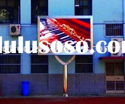 New project--P10 outdoor full-color LED advertising video display