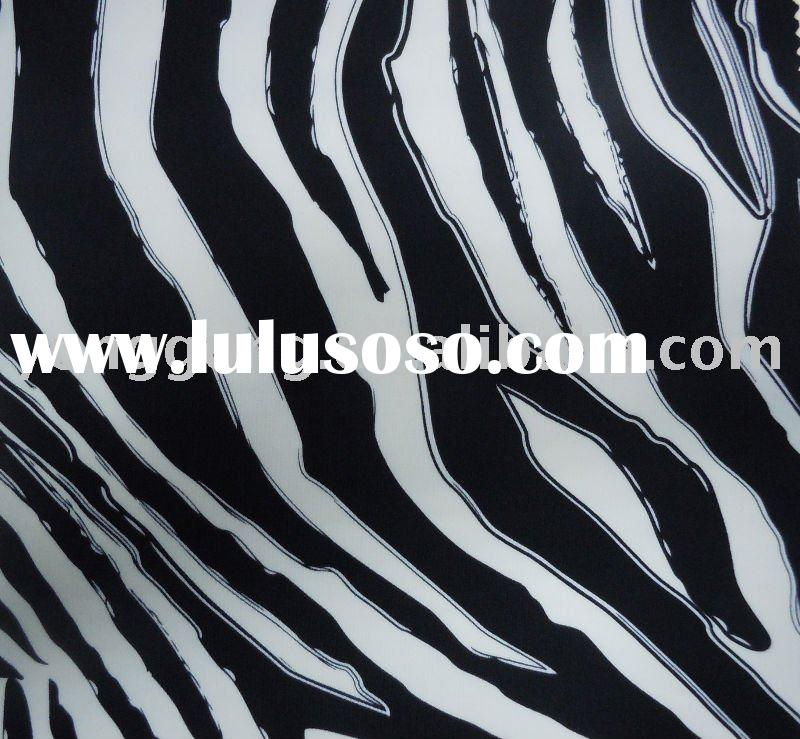 Nylon Spandex Lycra stretch Printing zebra fabric wholesale