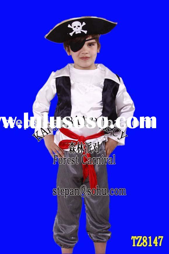 Pirate Costume For Party,Halloween Costume For Kids TZ-8147