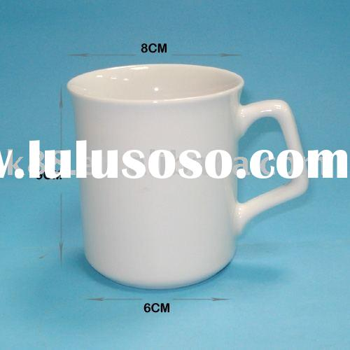 Plain white Porcelain cup/White porcelain mug/White ceramic mug