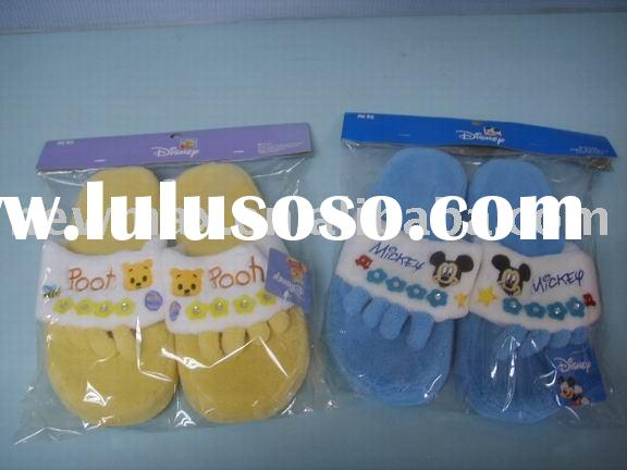 Plush Slippers(flip-flop, OEM disney plush toys)