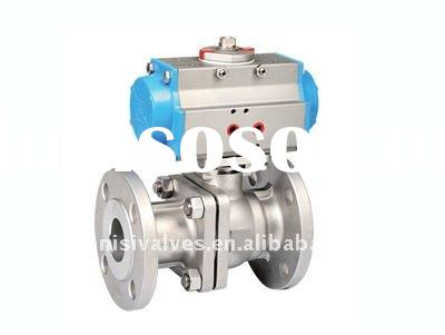 Pneumatic Actuator Flange Ball Valve (2pc)