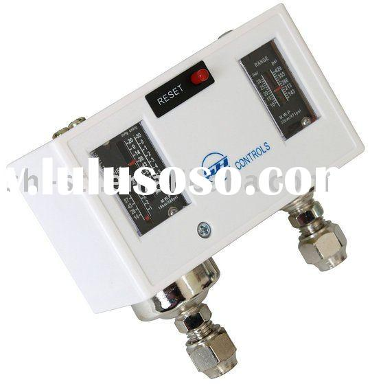 Pressure controller with automatic reset and manual reset