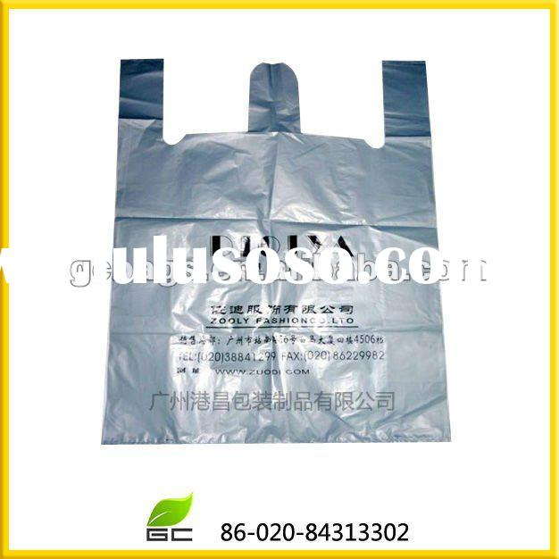 Promotion T-shirt plastic bag with handle