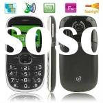 Q008 Black, 2.0 inch QVGA Screen, Elders Super Simple GSM Mobile Phone, Support FM radio, LED Flashl