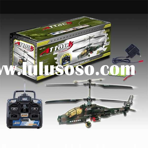 Rc toy 3CH electric rc helicopter Apache REH07678-3