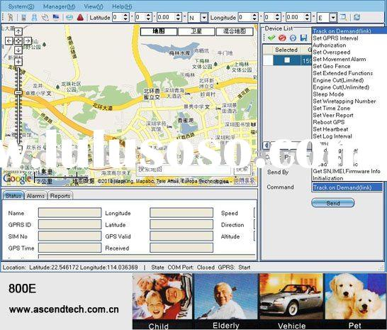 Real Time Online GPS Tracking System and monitoring software for car locator, personal tracker