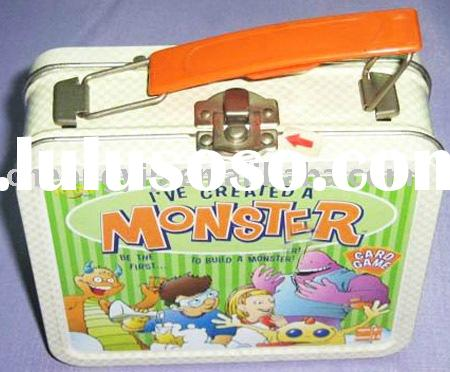 Rectangle Tin Box Lunch Box With handle lock metal case