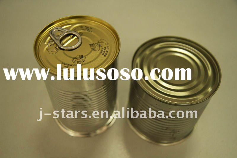 Round Empty Plain Food Storage Tin Cans With Lid