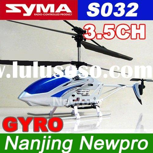 SYMA S032 Gyro Metal Frame 3.5 Channel Coaxial Indoor RC Remote Control Helicopter with light rc pla