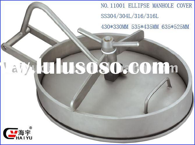 Sanitary Manhole Cover/Oval manhole cover/stainless steel tank cover