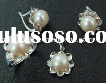 Silver jewellery, Fresh water pearl jewellery set, 925 silver ring,925 earrings, sterling silver pen