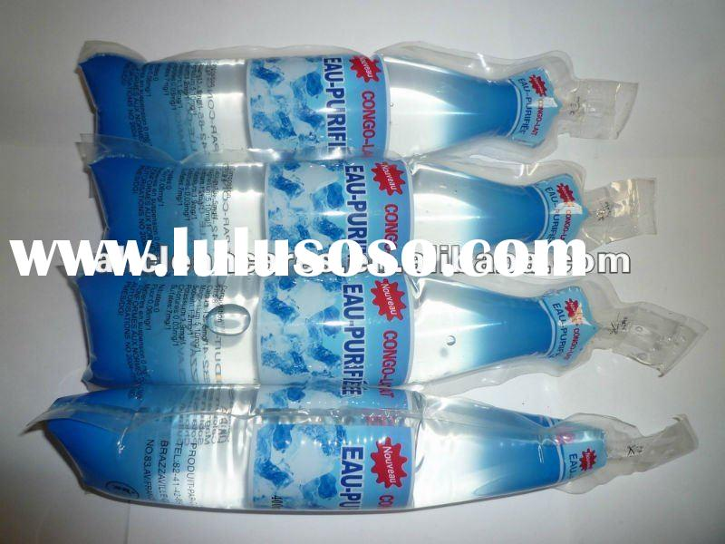 Small filling sealing packing machine for juice water bags