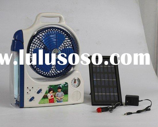 Solar Fan With LED Light