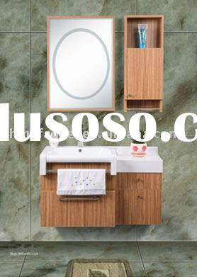 Solid Wood Bathroom Cabinet(Basin Vanity,Porcelain Wash Basin)