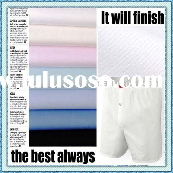 Spot Supply -------- Easy Care Cotton Fabric for Boxer Shorts