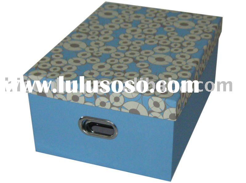 Square decorative cardboard storage boxes
