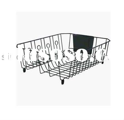 Stainless Steel Dish Rack with anti-slip plastic feet