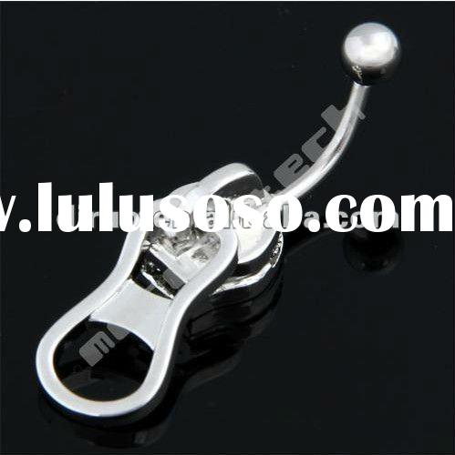 Steel Zipper Belly Navel Bar Button Ring Body Jewelry C1979 No.1 Supplier in China.
