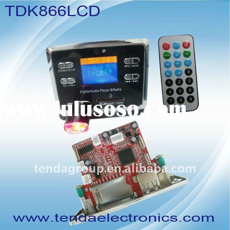 TDK866 LCD WAV mp3 module,USB/SD ,AUX,FM,remote control,LCD display with 10 laungue,2.1 ,5.1 audio a