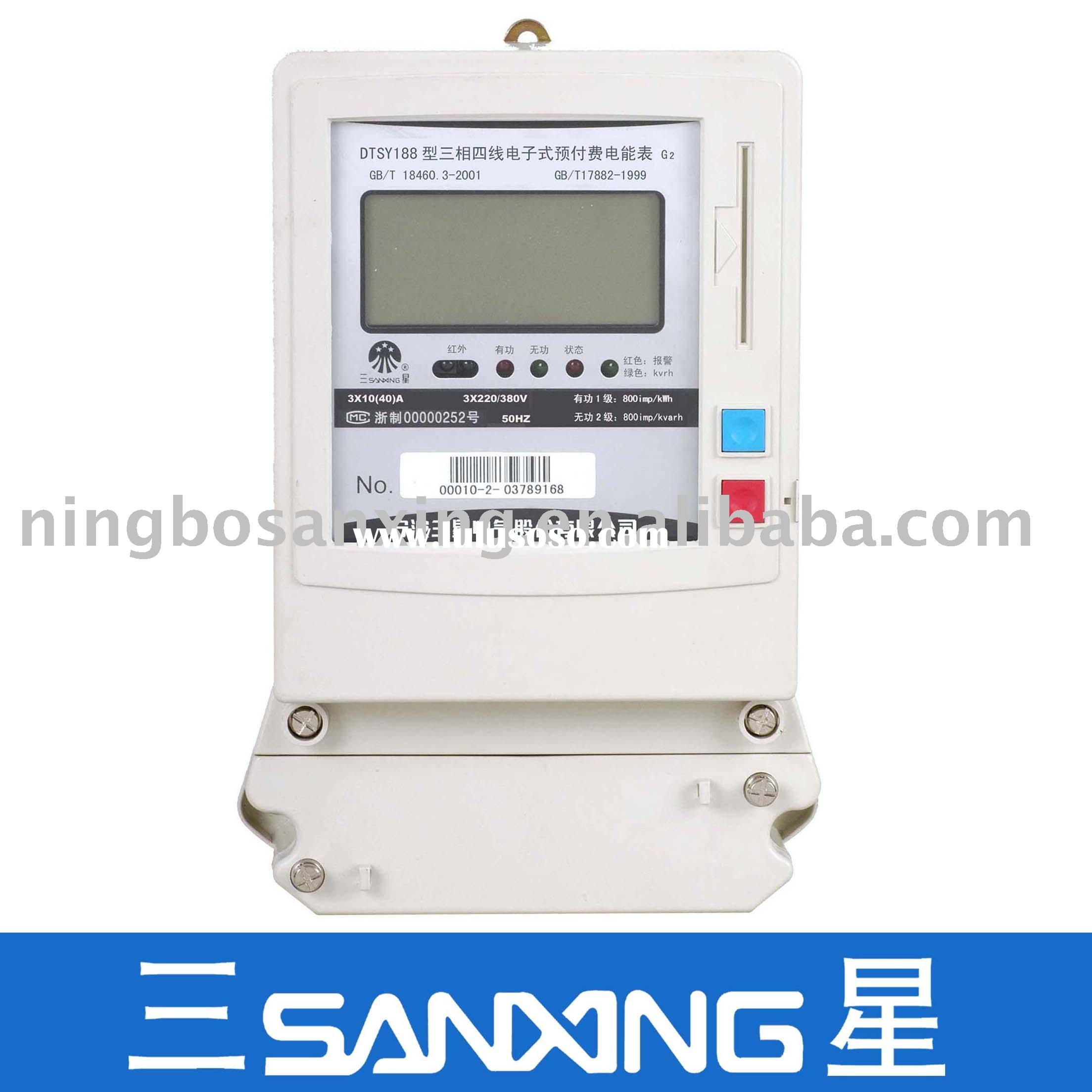 Three-Phase Four-Wire Prepayment Static Meter(electric meter,electronic meter,energy meter)
