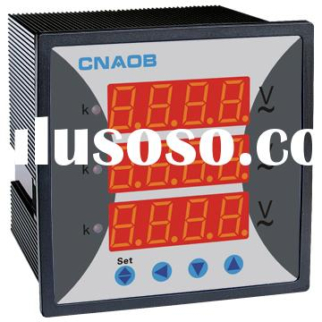 Three-phase AC Voltmeter Combined Meter 96*96 3-phase voltage meter