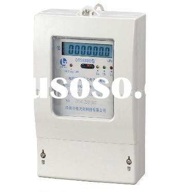 Three phase four wire digital electrical energy meter with infrared and RS-485 interface