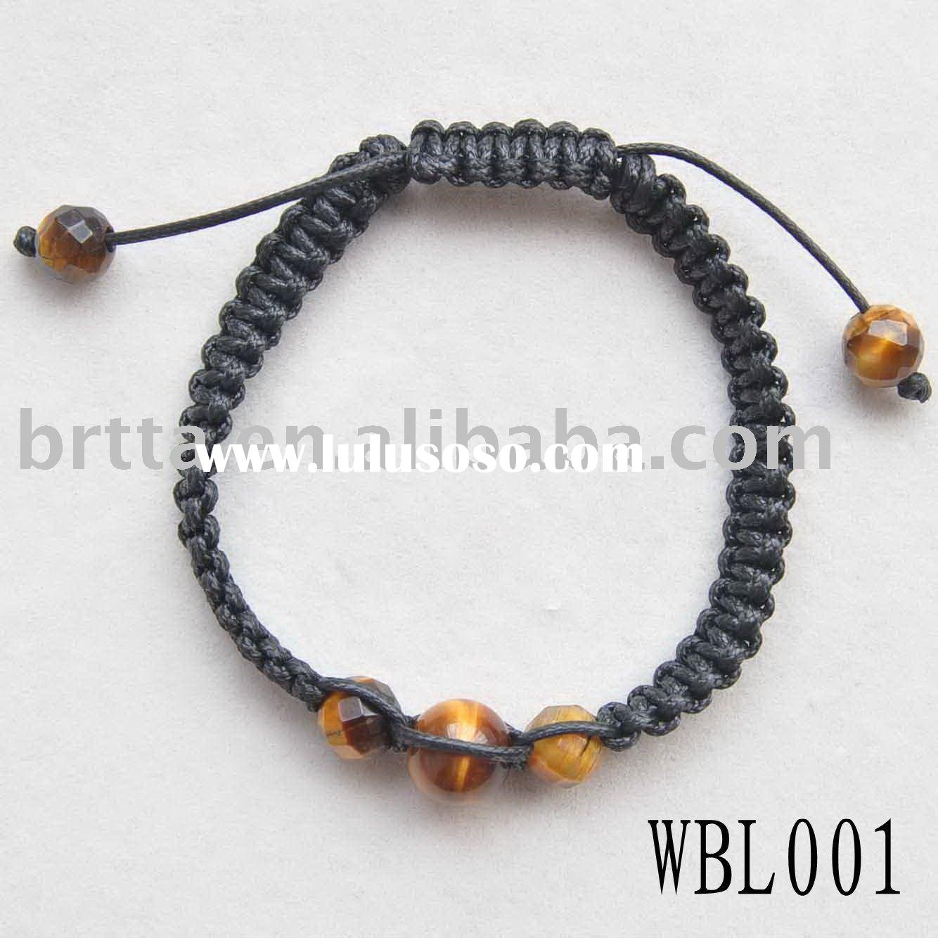 "Tiger Eye,8mm,7.5"",Fashion Bangle Jewelry,Handmade Wood Beade Braided Bracelet"