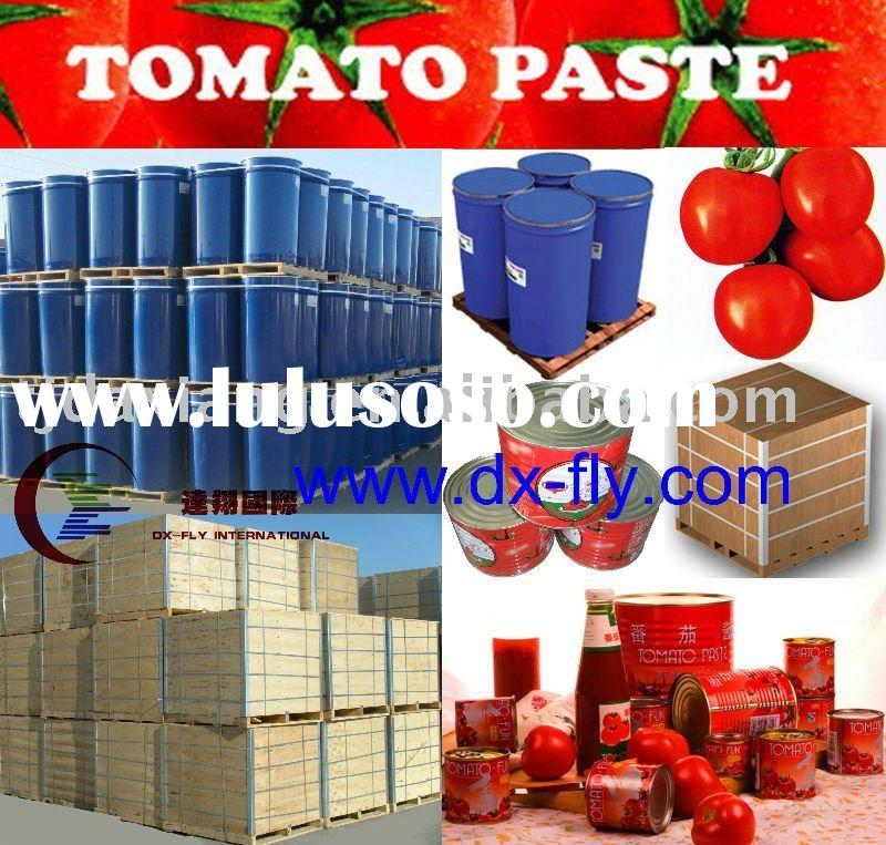 Tomato paste (packing in canned 70-4500g/tin ;in 220L steel drum;in 1000Lwooden ton-bins) High quali