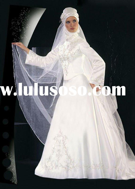 Top-rated material the most popular new design muslim wedding dress