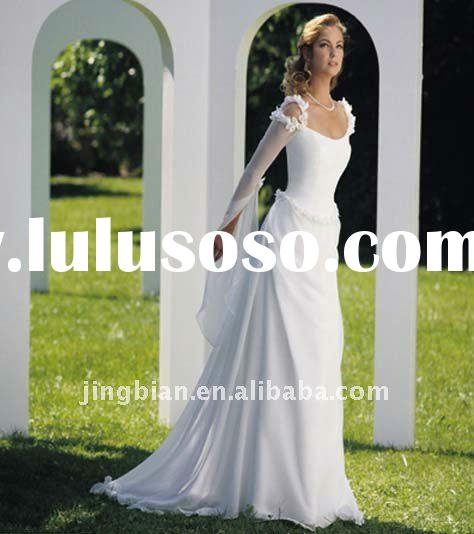 Transparent long sleeve wedding gowns 2012 bridal allure wedding dresses SC591